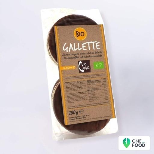 Gallette Di Mais Ricoperte Di Cioccolato Al Latte Bio 1 X 100 G